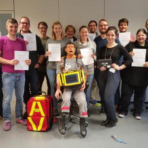Notfallinitiative Mannheim - Prüflinge mit Zertifikat